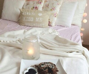 bed, love, and home image