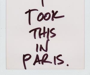 paris, polaroid, and quotes image