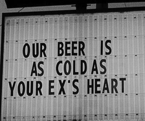 beer, black and white, and our image