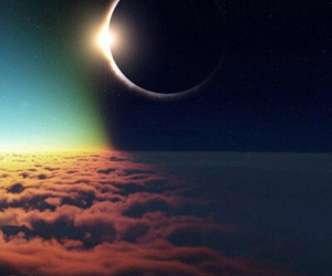 moon, eclipse, and sun image