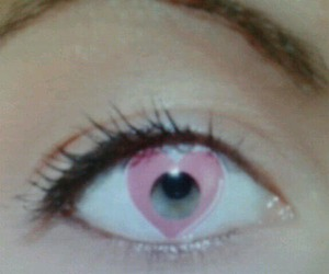 eye, pink, and cute image