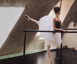 ballerina, ballet, and ballet shoes image