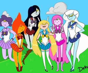 adventure time, sailor moon, and marceline image