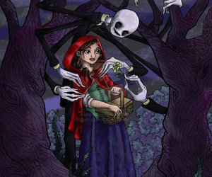 fairy tale, red riding hood, and angela apilado image