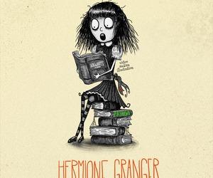 hermione granger, harry potter, and tim burton image