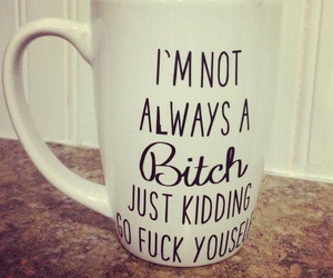 bitch, cup, and quote image