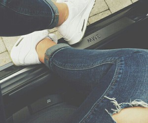 jeans, shoes, and nike image