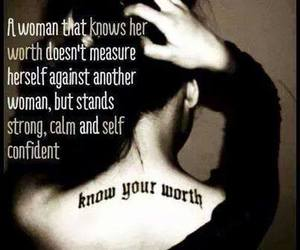 strong women and know your worth image