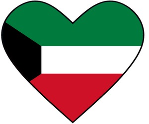 heart, قلب, and Kuwait image