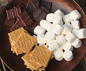 chocolate, food, and marshmallow image