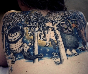 back, childhood, and girl tattoo image