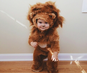 baby, cute, and lion image