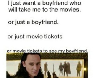 boyfriend, tickets, and loki image