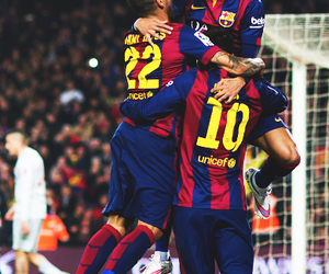 messi, neymar, and dani alves image