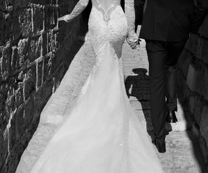 black and white, one day, and white dress image