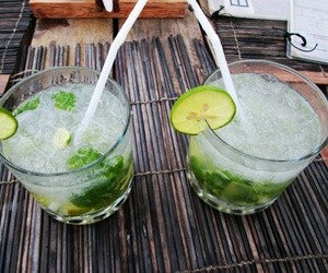 drink, mojito, and ice image