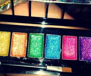 makeup, sparkling, and shine image