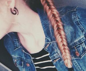 braid, grunge, and hair image