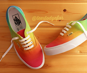 shoes, vans, and colors image