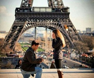 eiffel tower, proposal, and paris image