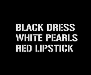 black, dress, and lipstick image