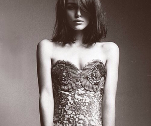keira knightley, black and white, and dress image