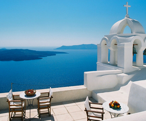 Greece, santorini, and blue image