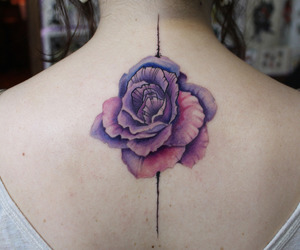 branca, flor, and tatto image