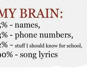 brain, song, and names image