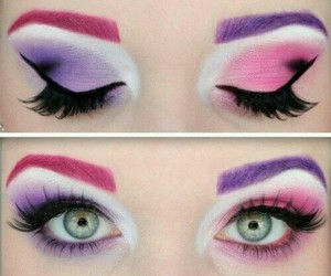 beautiful, eyes, and pink image