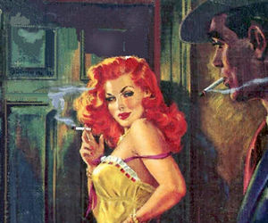 pulp art and vintage image