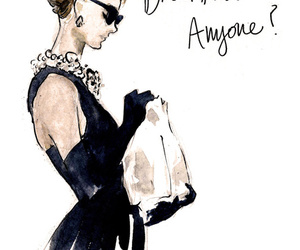 art, breakfast, and audrey hepburn image
