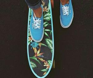 vans, skate, and blue image