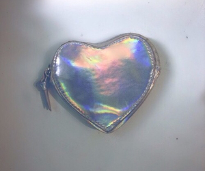 grunge, holographic, and heart image