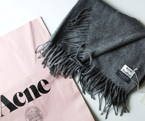 acne, fashion, and scarf image