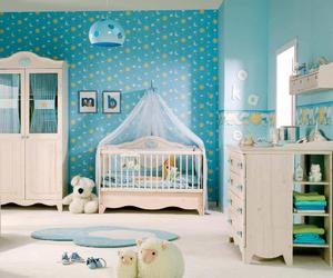 room, baby, and blue image