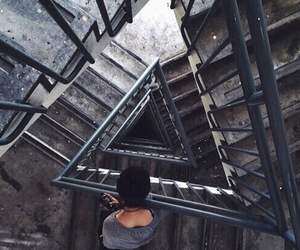 stairs, grunge, and indie image