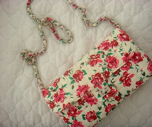 bag, flowers, and floral image