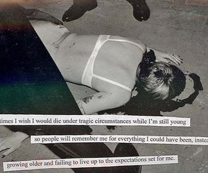 die, postsecret, and young image