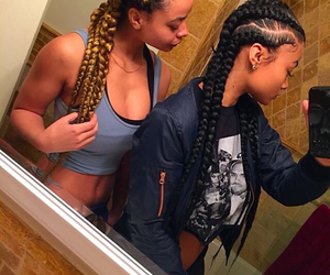 hair, india westbrooks, and braids image