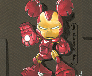 disney, mickey, and ironman image