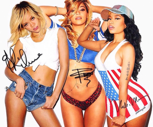 rihanna, beyoncé, and nicki minaj image