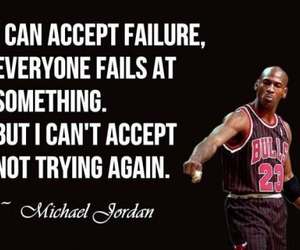 quote, michael jordan, and Basketball image