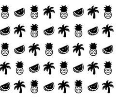 black and white, hd, and pineapple image