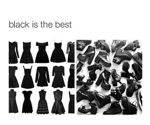 black, outfits, and shoes image