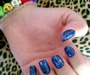 blue, glitter, and leopard print image