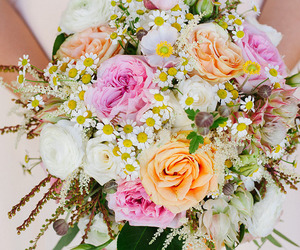 bouquet, flower, and wedding image