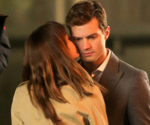 christian grey, kiss, and fifty shades of grey image