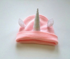 unicorn, pink, and hat image