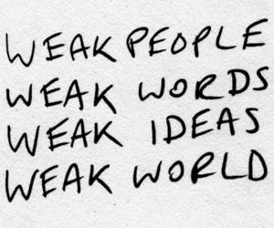 weak, words, and people image